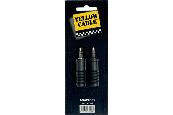 YELLOW AD06 ADATTATORE MINI JACK TRS MASCHIO/JACK TRS FEMMINA 2 PCS