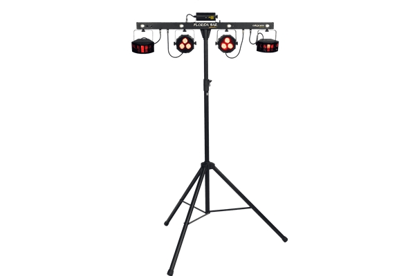 ALGAM FLORIDA-BAR SET ILLUMINAZIONE PAR LED MULTIEFFETTO DMX