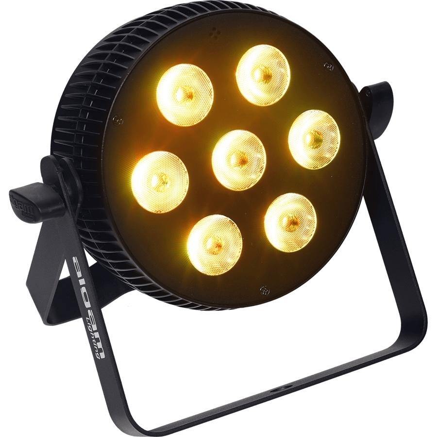 ALGAM SLIMPAR-710-QUAD PROIETTORE PAR LED 7 X 10W RGBW