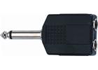 Quik lok Ad/72 adattatore audio 2 jack 6.3 mm mono femmina/jack