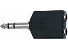 Quik lok Ad/76 adattatore audio 2 jack 6.3 mm stereo femmina/jac