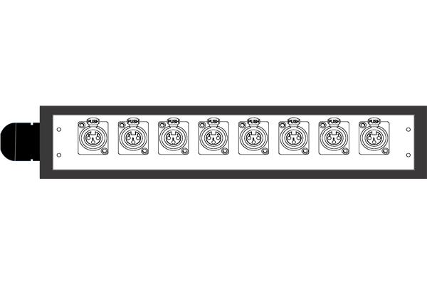 Quik Lok BOX202 Dispositivo audio professionale 8 Input - Voce - Audio Accessori - Stage box