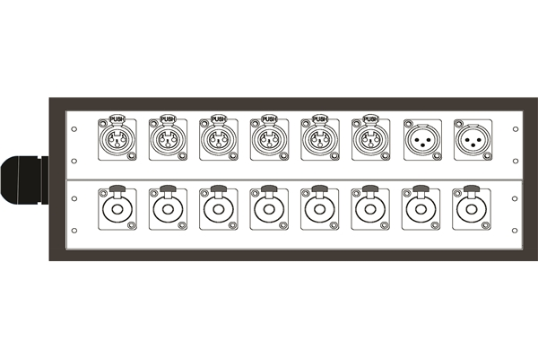 Quik Lok BOX251 Dispositivo audio professionale 6 Input/2 Output
