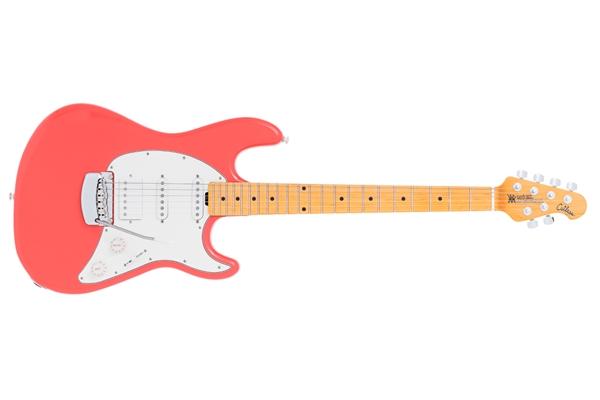 Music Man Cutlass HSS tastiera Acero Tremolo Coral Red - Chitarre Chitarre - Elettriche