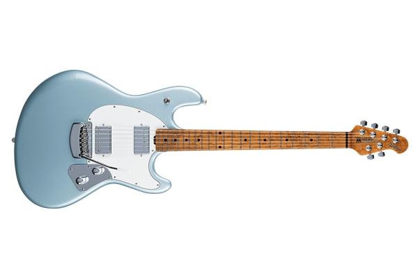 Music Man StingRay Guitar HH Firemist Silver Tastiera Acero