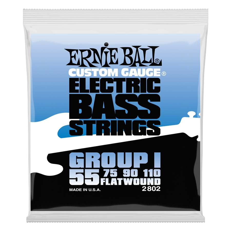 Ernie Ball 2802 Flatwound Group I 55-110