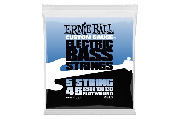 Ernie Ball 2810 Flatwound 5 Corde 45-130 - Bassi Accessori - Corde