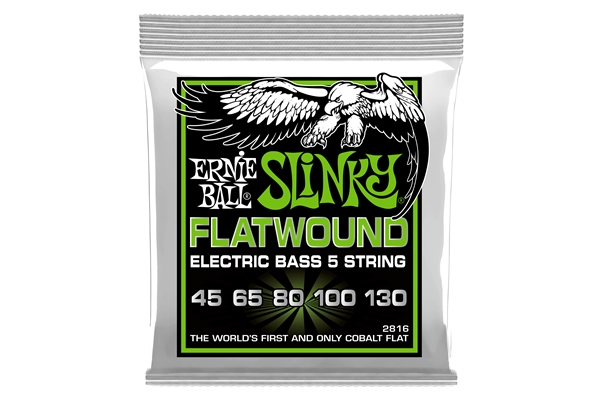 Ernie Ball 2816 Regular Slinky Flatwound 45-130 - Bassi Accessori - Corde