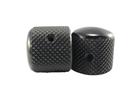 Ernie ball Manopole telecaster in alluminio nero - set di 2