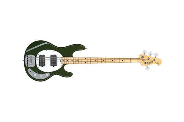 STERLING BY MUSIC MAN STINGRAY RAY4 HH 4 CORDE OLIVE TASTIERA ACERO